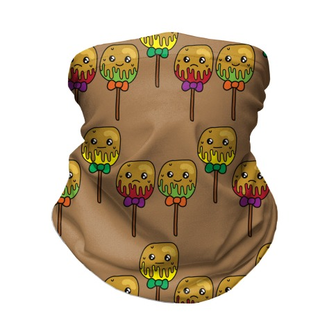 Caramel Apple Cuties Pattern Neck Gaiter