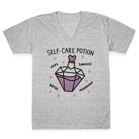 Self-Care Potion V-Neck Tee Shirt