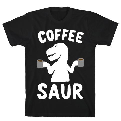 Coffeesaur Dinosaur T-Shirt