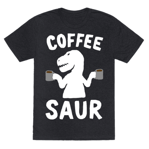 Coffeesaur Dinosaur Mens T-Shirt