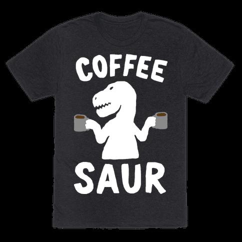 Coffeesaur Dinosaur Mens T-Shirt