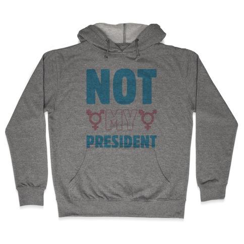 Not My President Trans Rights Hooded Sweatshirt