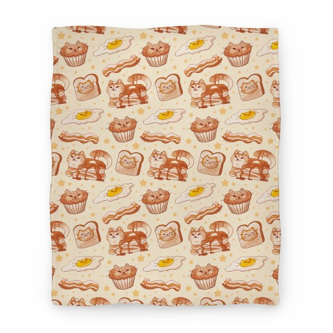 Breakfast Cats Blanket