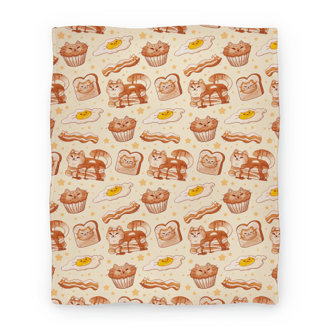 Breakfast Cats Blanket
