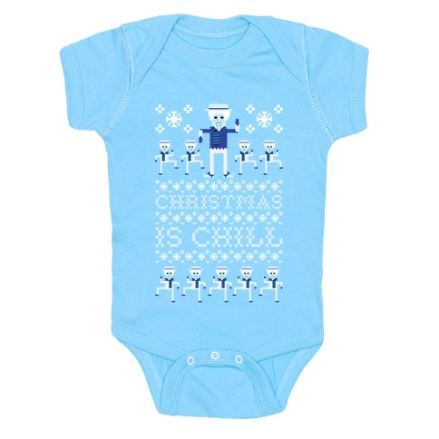 Christmas Is Chill Snow Miser Baby Onesy