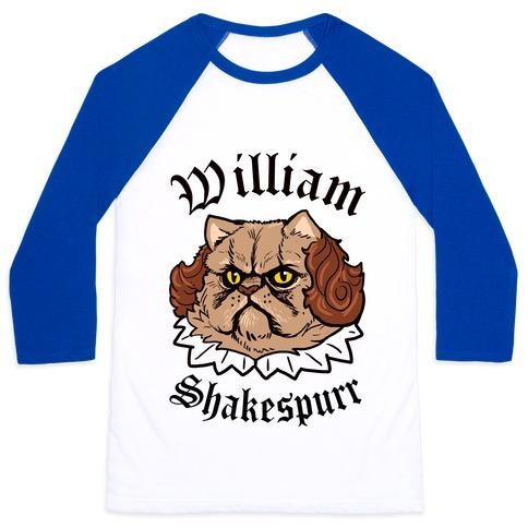 William Shakespurr Baseball Tee