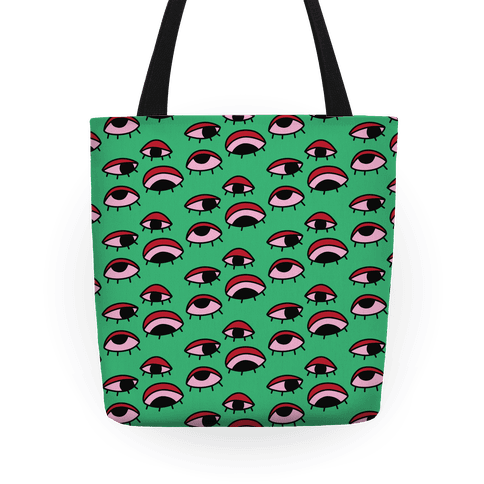 Tired Eyes Pattern Tote