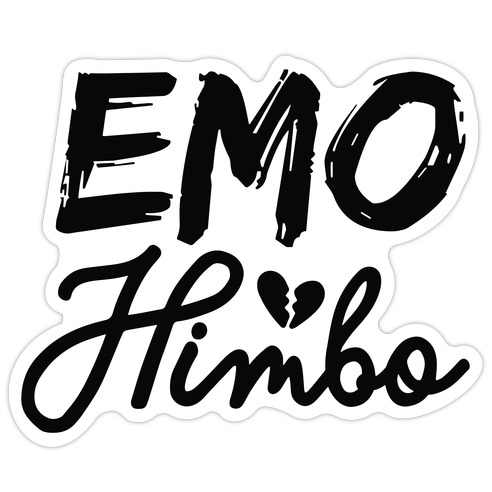 Emo Himbo Die Cut Sticker