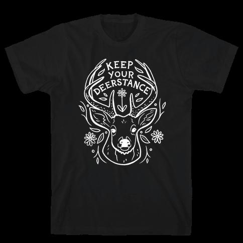 Keep Your Deerstance Mens/Unisex T-Shirt