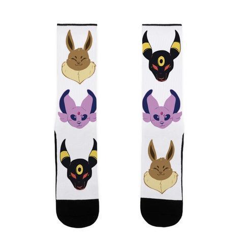 Eevee, Espeon and Umbreon Sock
