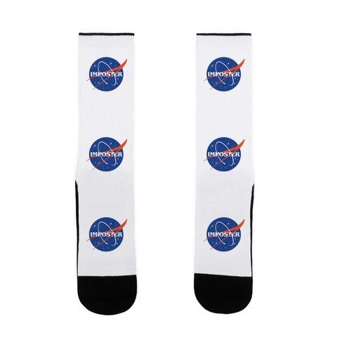 Imposter Nasa Logo Parody Sock