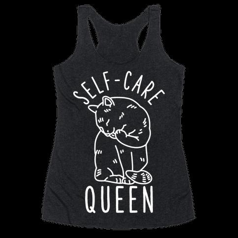 Self-Care Queen Racerback Tank Top