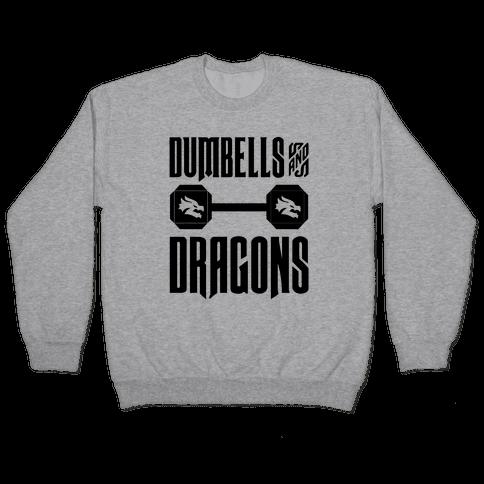 Dumbells & Dragons Parody Pullover