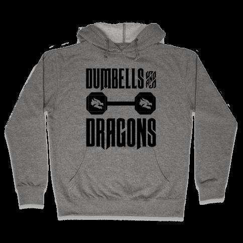 Dumbells & Dragons Parody Hooded Sweatshirt