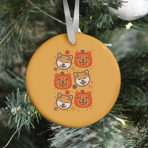 Shiba Inu Pumpkins Ornament