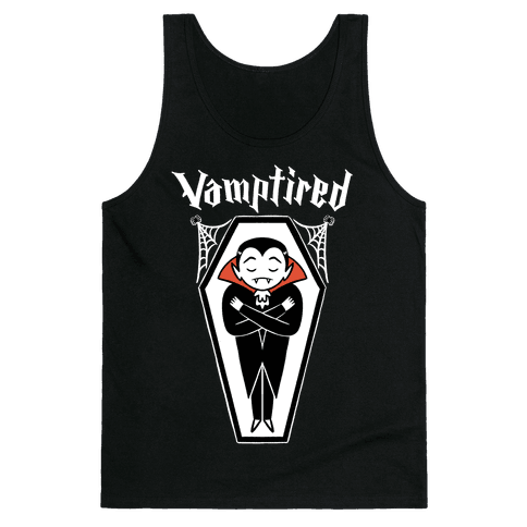 Vamptired Tired Vampire Tank Top