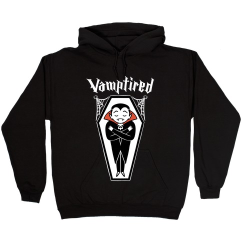 Vamptired Tired Vampire Hooded Sweatshirt