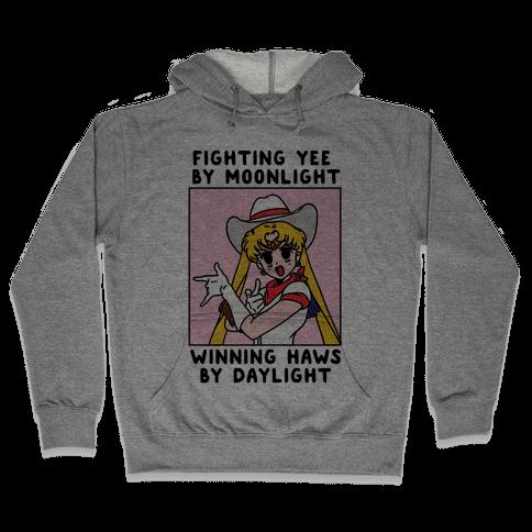 Fighting Yee By Moonlight Winning Haws By Daylight Hooded Sweatshirt