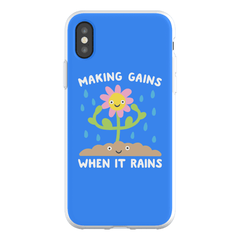 Making Gains When It Rains Flower Phone Flexi-Case