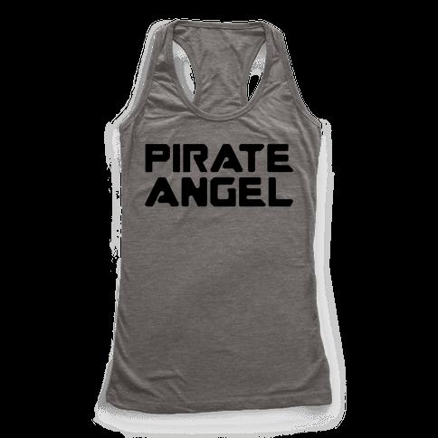 Pirate Angel Parody  Racerback Tank Top