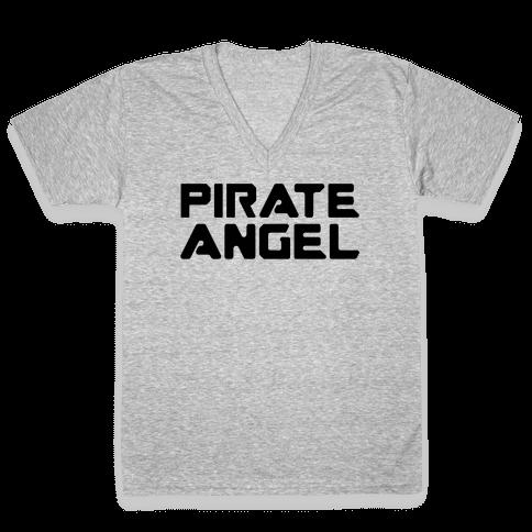 Pirate Angel Parody  V-Neck Tee Shirt