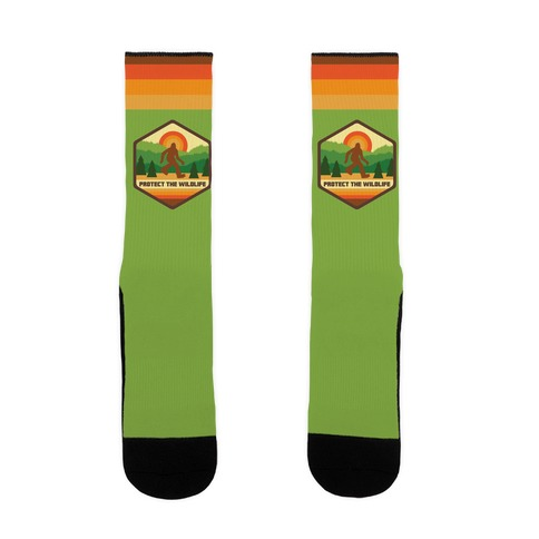 Protect The Wildlife (Bigfoot) Sock