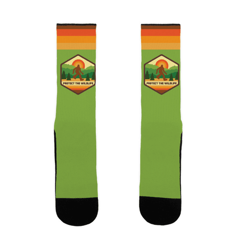 Protect The Wildlife (Bigfoot) Sock