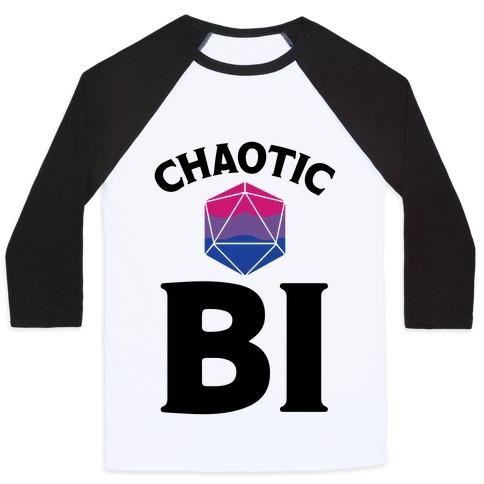 Chaotic Bi Baseball Tee