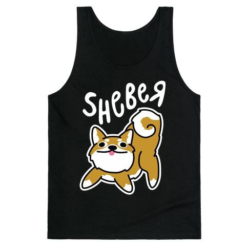 Sheber Derpy Shiba Tank Top