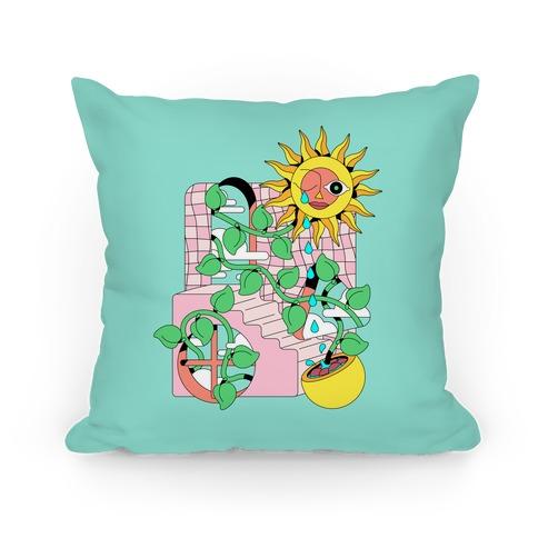 Trippy Sunflower Shower  Pillow