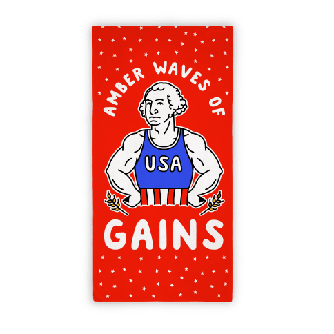 Amber Wave Of Gains Beach Towel