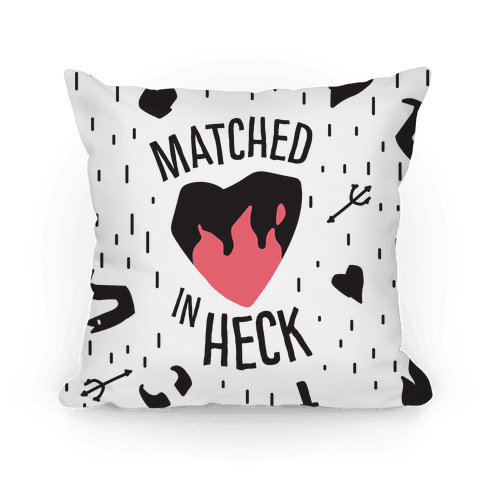 Matched in Heck Pillow