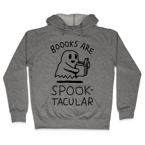 Boooks Are Spooktacular Ghost Hooded Sweatshirt