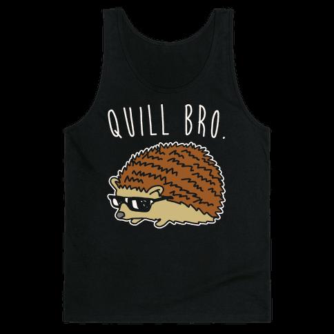 Quill Bro White Print Tank Top