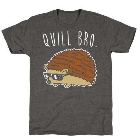 Quill Bro White Print T-Shirt