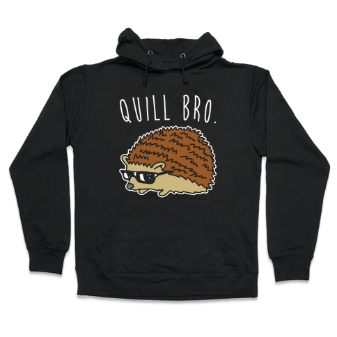 Quill Bro White Print Hooded Sweatshirt