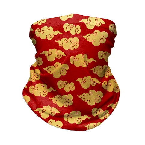 Oriental Clouds Pattern Neck Gaiter
