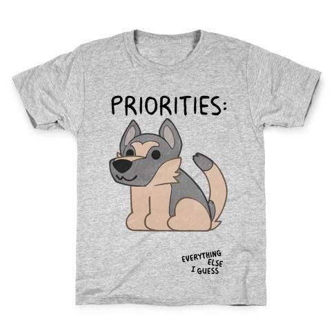German Shepherd Priorities Kids T-Shirt