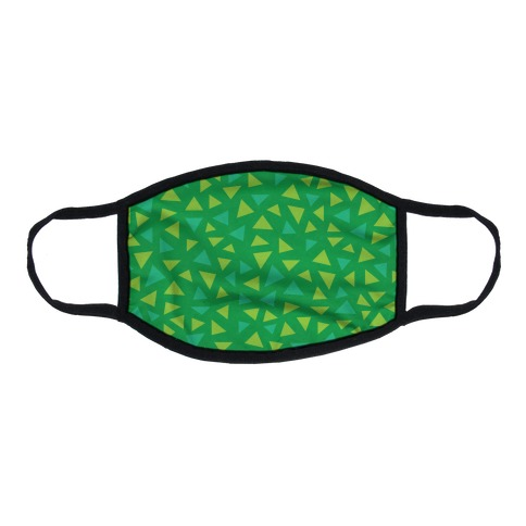 Game Grass Triangle Pattern Flat Face Mask