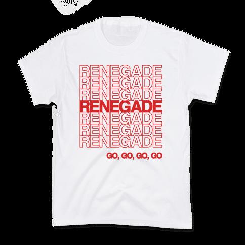 Renegade Renegade Renegade Parody Kids T-Shirt