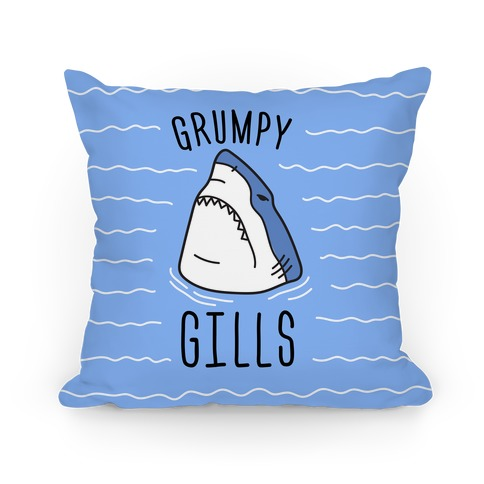 Grumpy Gills Shark Pillow
