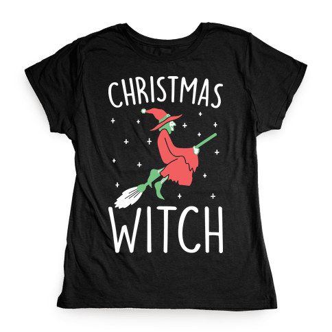 Christmas Witch Womens T-Shirt