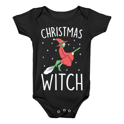 Christmas Witch Baby Onesy