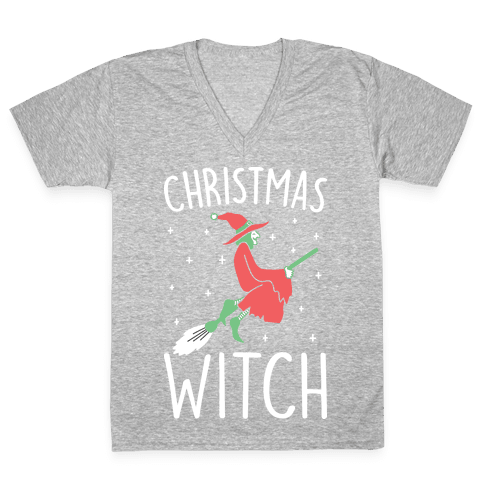 Christmas Witch V-Neck Tee Shirt