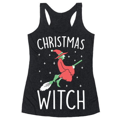 Christmas Witch Racerback Tank Top