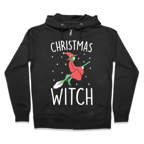 Christmas Witch Zip Hoodie