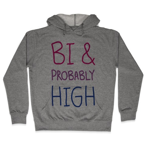 Bi And Probably High Hooded Sweatshirt