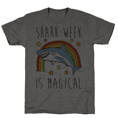Shark Week Is Magical Parody Mens T-Shirt