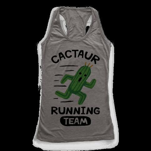 Cactaur Running Team Racerback Tank Top