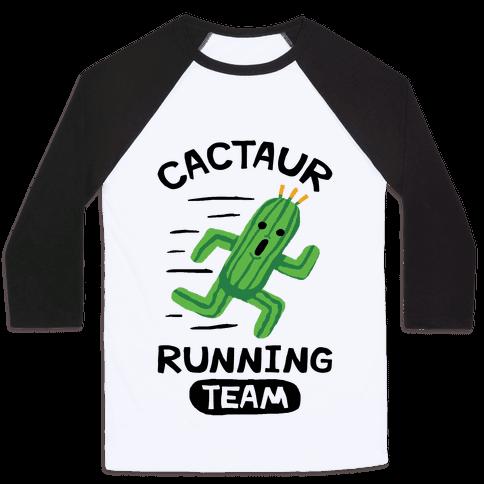 Cactaur Running Team Baseball Tee